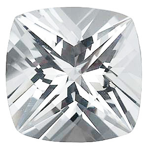 Swarovski  White Topaz Antique Square Checkerboard Cut in Grade AAA