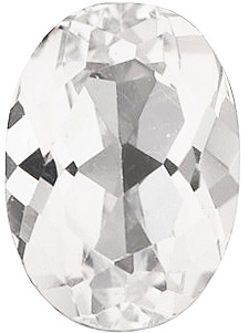 Swarovski  White Topaz Oval Cut in Grade AAA