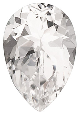 Swarovski  White Topaz Pear Cut in Grade AAA