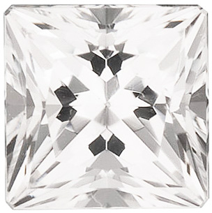 Swarovski  White Topaz Princess Cut in Grade AAA