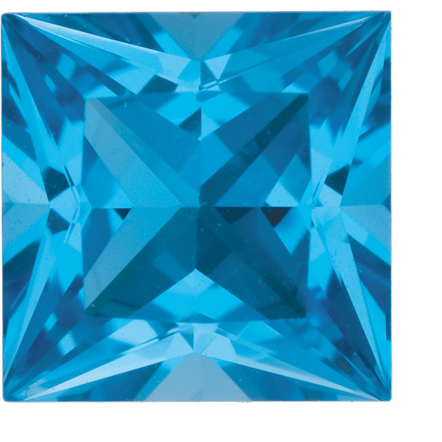 Swiss Blue Topaz Princess in Grade AAA