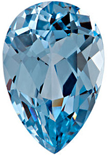 Synthetic Chatham Created Aqua Blue Spinel Gem, Pear Shape, Grade GEM, 8.00 x 5.00 mm in Size, 1 Carats