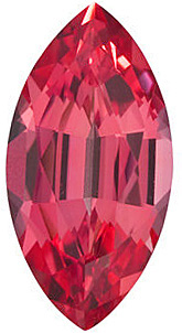 Synthetic Chatham Created Padparadscha Sapphire Stone, Marquise Shape, Grade GEM, 8.00 x 4.00 mm in Size, 0.8 Carats