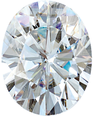 Synthetic Value Quality Loose Moissanite Gemstone in Round Cut, 6.00 x 4.00 mm in Size, 0.43 Carats