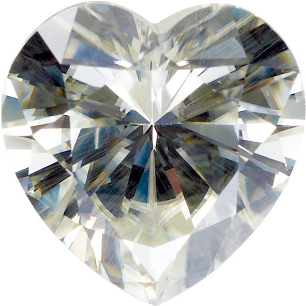 Loose Quality Synthetic Moissanite Gem by Charles & Colvard in Heart Shape Grade AAA, 6.00 mm in Size