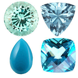 TEAL GEMSTONES