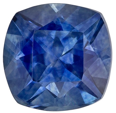 Terrific Buy on Blue Green Sapphire Gemstone, 0.97 carats, Cushion Shape, 5.3 mm, Impressive Gem