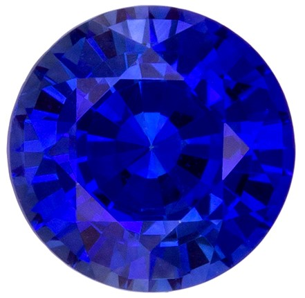 Terrific Buy on Blue Sapphire Gemstone, 0.71 carats, Round Shape, 5 mm, Great Buy on This Stone