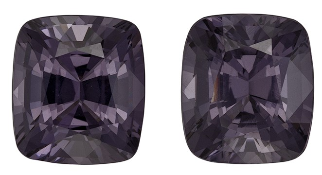 Terrific Buy on Gray Spinel Gemstone, 2.89 carats, Cushion Shape, 6.8 x 6 mm, Hard to Find Gem