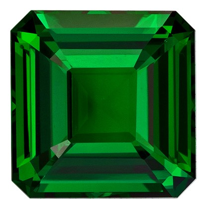 Terrific Buy on Green Tsavorite Gemstone, 2 carats, Emerald Shape, 7.2 x 7 mm, Truly Stunning