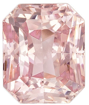 Terrific Buy on Padparadscha Sapphire Gemstone,  No Heat with GIA, 1.22 carats, Radiant Shape, 6.31 x 5.23 x 3.87 mm, Great Buy on This Stone
