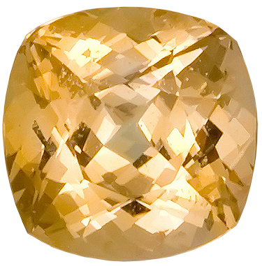 Terrific Yellow with a Hint of Orange, Yellow/Peach Sapphire Natural Gemstone, Antique Cushion Cut, 1.23 carats