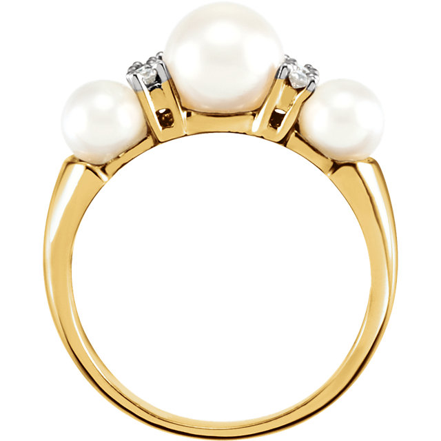 Three-Stone Ring for Pearl