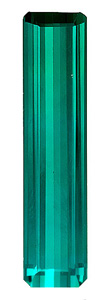 Timeless, Great Clarity Blue Green Tourmaline Natural Brazilian Gemstone, Emerald  Cut, 4.72 carats