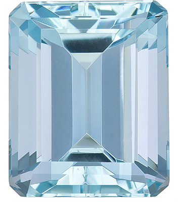 Timeless, Lively and Bright Aquamarine Natural Gem from Brazil, Emerald  Cut, 4.76 Carats