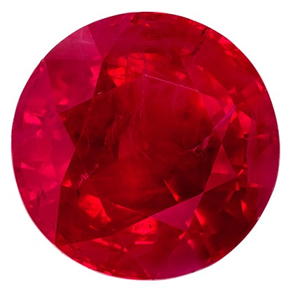 Top Gem  Ruby Gemstone, 3.16 carats, Round Cut, 8.23 x 8.15 x 5.66 mm, A Low Price on Fine Stone with GRS Cert