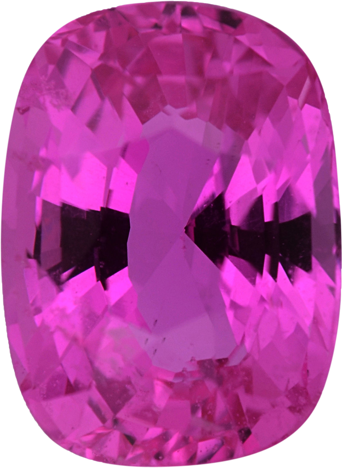 Top Gem Sapphire Loose Gem in Antique Cushion Cut, Medium Red Purple Or Purple Red, 7.69 x 5.65  mm, 1.66 Carats
