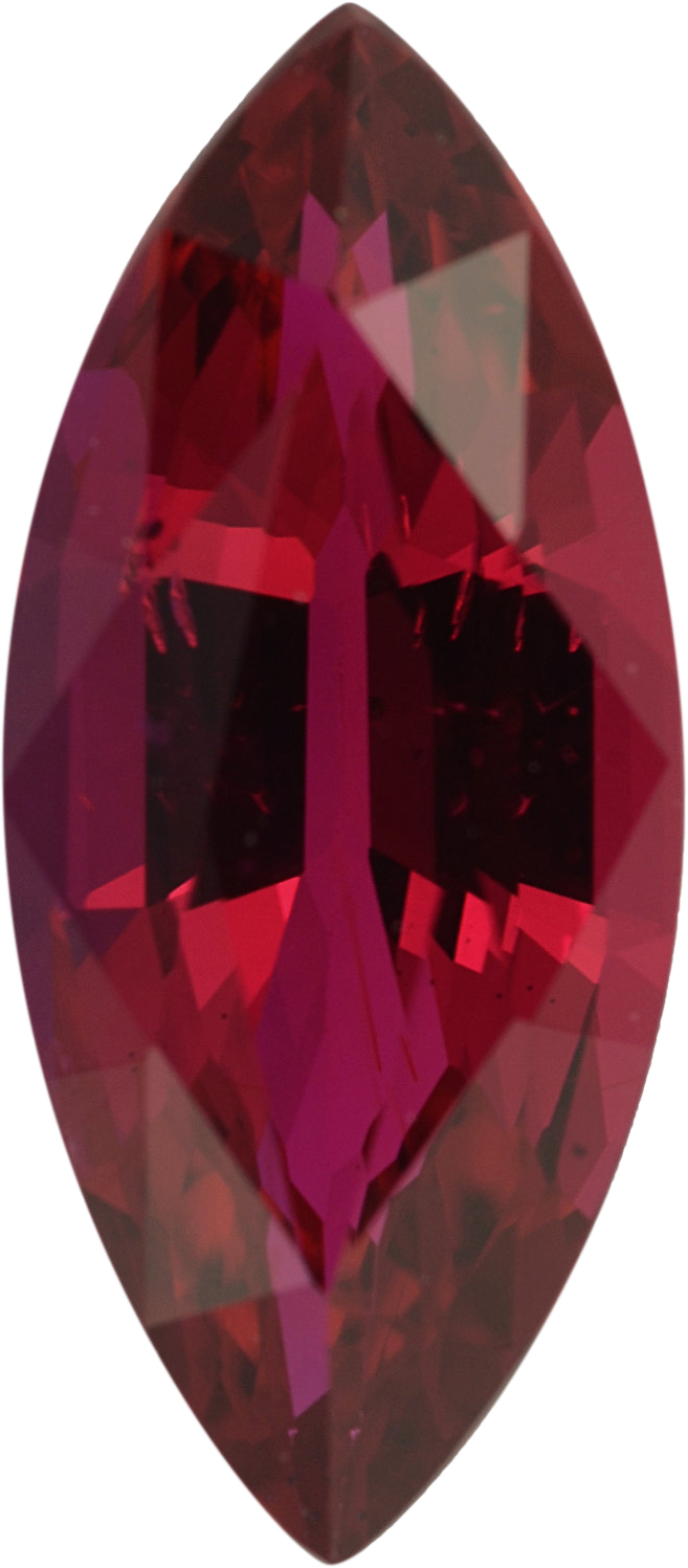 Top Gem  Unheated Ruby Loose Gem in Marquise Cut,  Vibrant Purple Red, 10.85 x 4.79  mm, 1.35 Carats