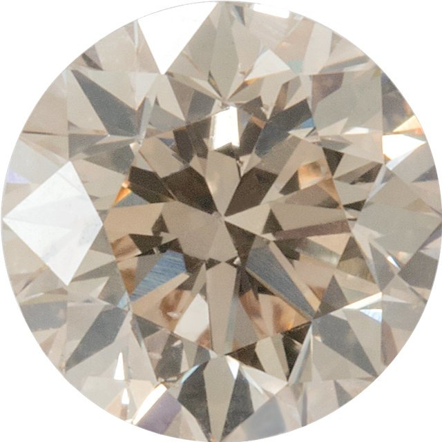 Top Light Brown Diamonds in Round Cut SI1
