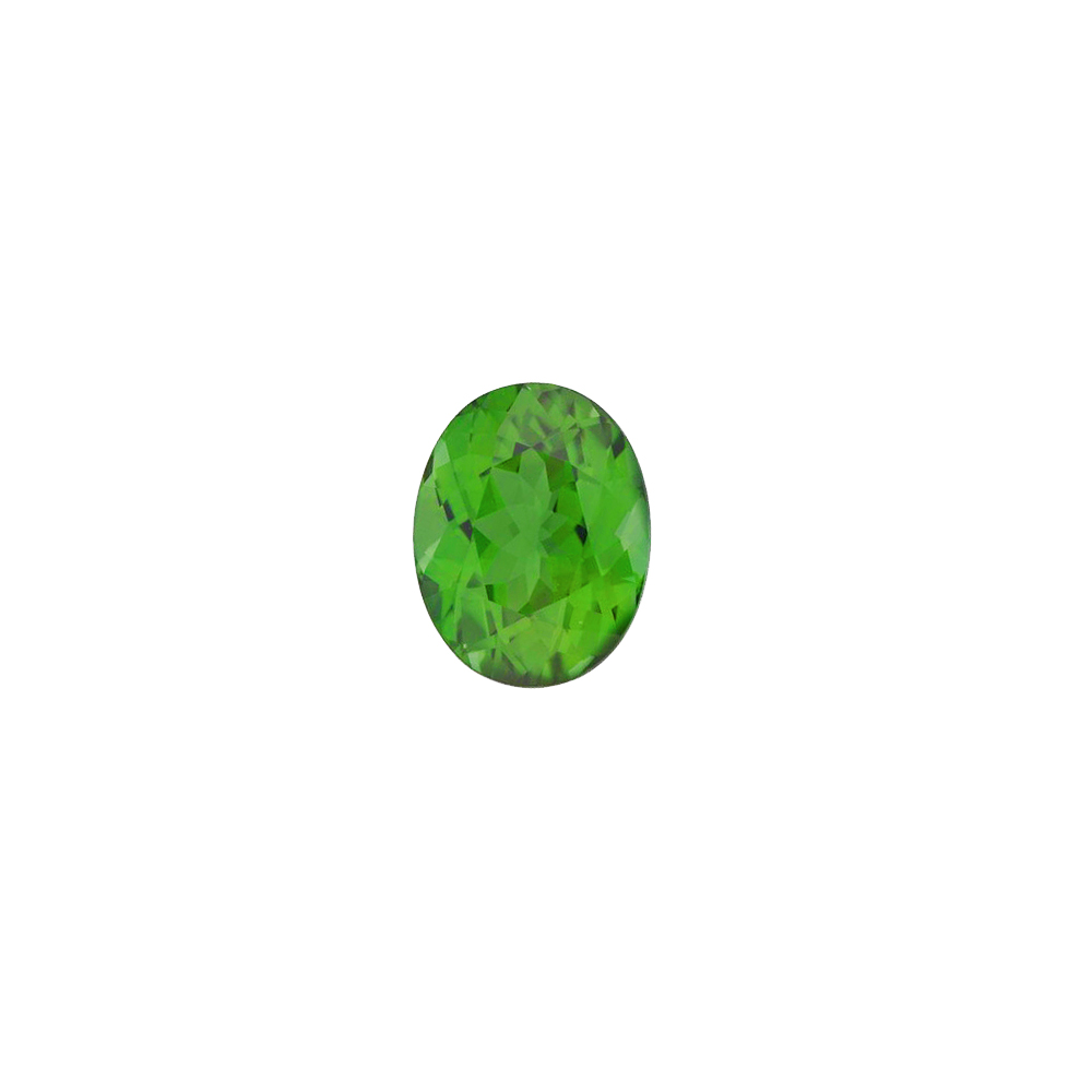 Faceted Loose Natural Oval Shape Green Tourmaline Gemstone Grade AAA, 8.00 x 6.00 mm in Size, 1.35 Carats