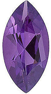Loose Amethyst Gem in Marquise Shape, Grade A, 6.00 x 3.00 mm in Size, 0.22 carats