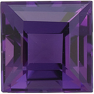 Beautiful Genuine Loose Amethyst Gemstone in Step Shape, Grade AA, 3.00 mm in Size, 0.15 carats