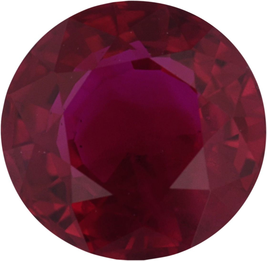 Top Quality Round Cut Loose Ruby Gem, Deep  Red Color, 5.57 mm, 0.88 carats