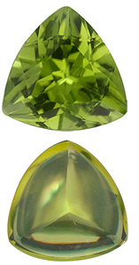 <b>Peridot Trillion Cut - Calibrated</b>