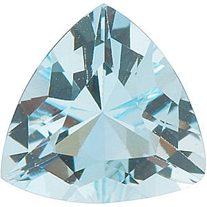 Trillion Cut Genuine Aquamarine  in Grade A