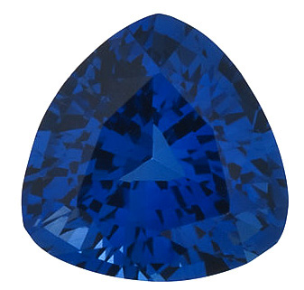 Trillion Cut Genuine Blue Sapphire in Grade AAA