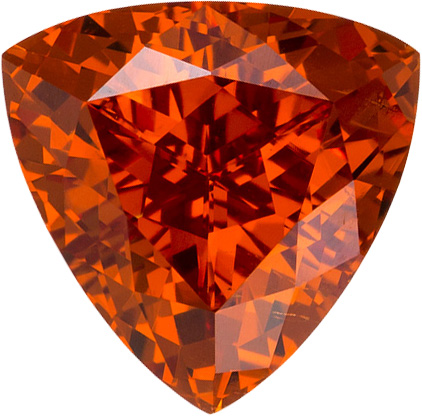 Trillion Garnet Spessartite Gemstone Loose in Rich Orange Color, 8.0 mm, 2.28 Carats - SOLD
