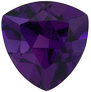 Trillion Genuine Amethyst in Grade AAA