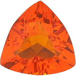 Fine Natural Calibrated Trillion Shape Mexican Fire Opal Gemstone Grade AA, 4.00 mm in Size, 0.14 carats