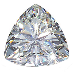 Trillion Shape Moissanite Genuine Natural Quality Loose Gem Grade AAA 2.25 carats,  9.00 mm in Size