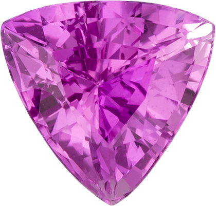 Trillion Shape Pink Sapphire Loose Gem in Rich Pure Pink Color, 6.0 mm, 0.94 Carats