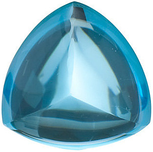 Trillion Shape Swiss Blue Topaz Natural Quality Loose Cut Gemstone Grade AAA, 6.00 mm in Size