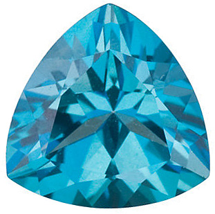Trillion Shape Teal Passion Topaz Genuine Cut Quality Gemstone Grade AAA  6.00 mm in Size