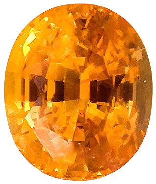 True Orange Sapphire Natural Gemstone for SALE, AGL Cert, Oval Cut, 4.55 carats