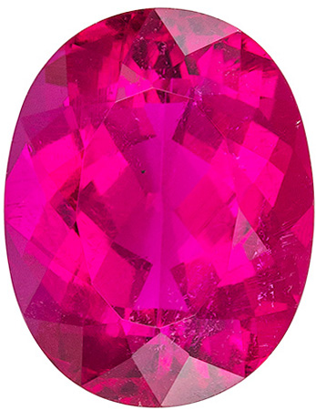 Truly Impressive Rubellite Tourmaline Natural Stone in Oval Cut, Intense Fuchsia Color in 4.65 carats , 12 x 9.4 mm
