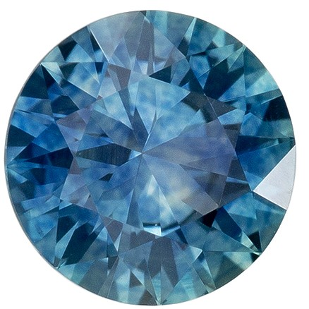Truly Stunning  Blue Green Sapphire Genuine Gemstone, 0.7 carats, Round Shape, 5.5 mm