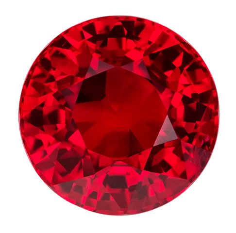 Truly Stunning  Red Ruby Genuine Gemstone, 2.52 carats, Round Shape, 7.48 x 7.43 x 5.32 mm  with  GIA Certificate