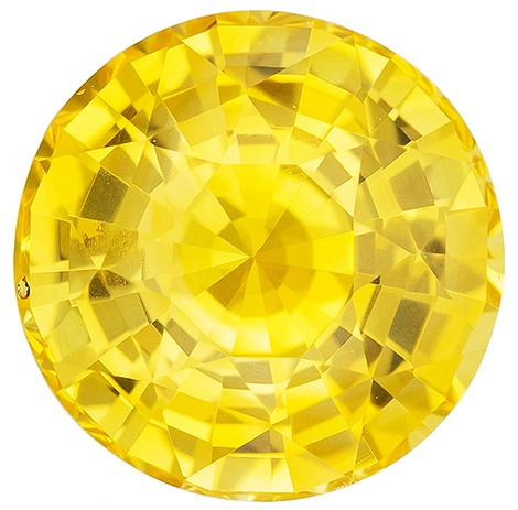 Truly Stunning  Round Cut Gorgeous Yellow Sapphire Gemstone, 2.55 carats, 8 mm , A Must Have Gem