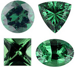 TSAVORITE GARNET     Standard Sizes