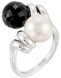 Two-Stone Ring for Pearl