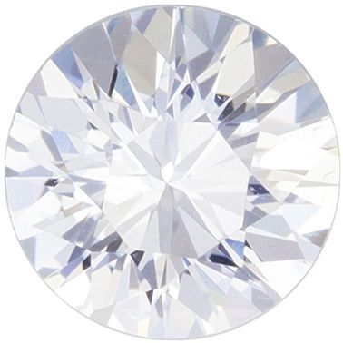 Ultra Beautiful Genuine White Sapphire Loose Gem, 6 mm, Very Colorless White, Round Cut, 0.96 carats