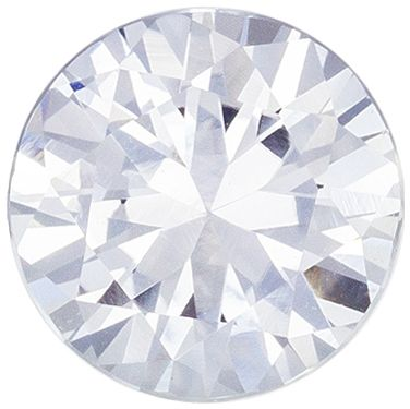 Ultra Beautiful Genuine White Sapphire Loose Gem, Round Cut, Colorless White, 6.1 mm, 1 carats