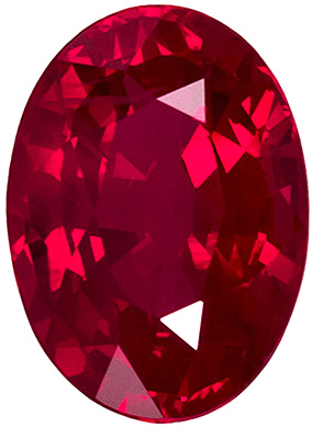 UltraGem Clean Beautiful Rich Red Ruby of Finest Quality, Oval Cut, 7 x 5.1 mm, 1.1 carats - SOLD