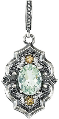 Unbelievable 1.39ct 8x6mm Green Quartz and Smokey Quartz Fashion Pendant in Sterling Silver - Excellent Color Combo! - FREE Chain With Pendant