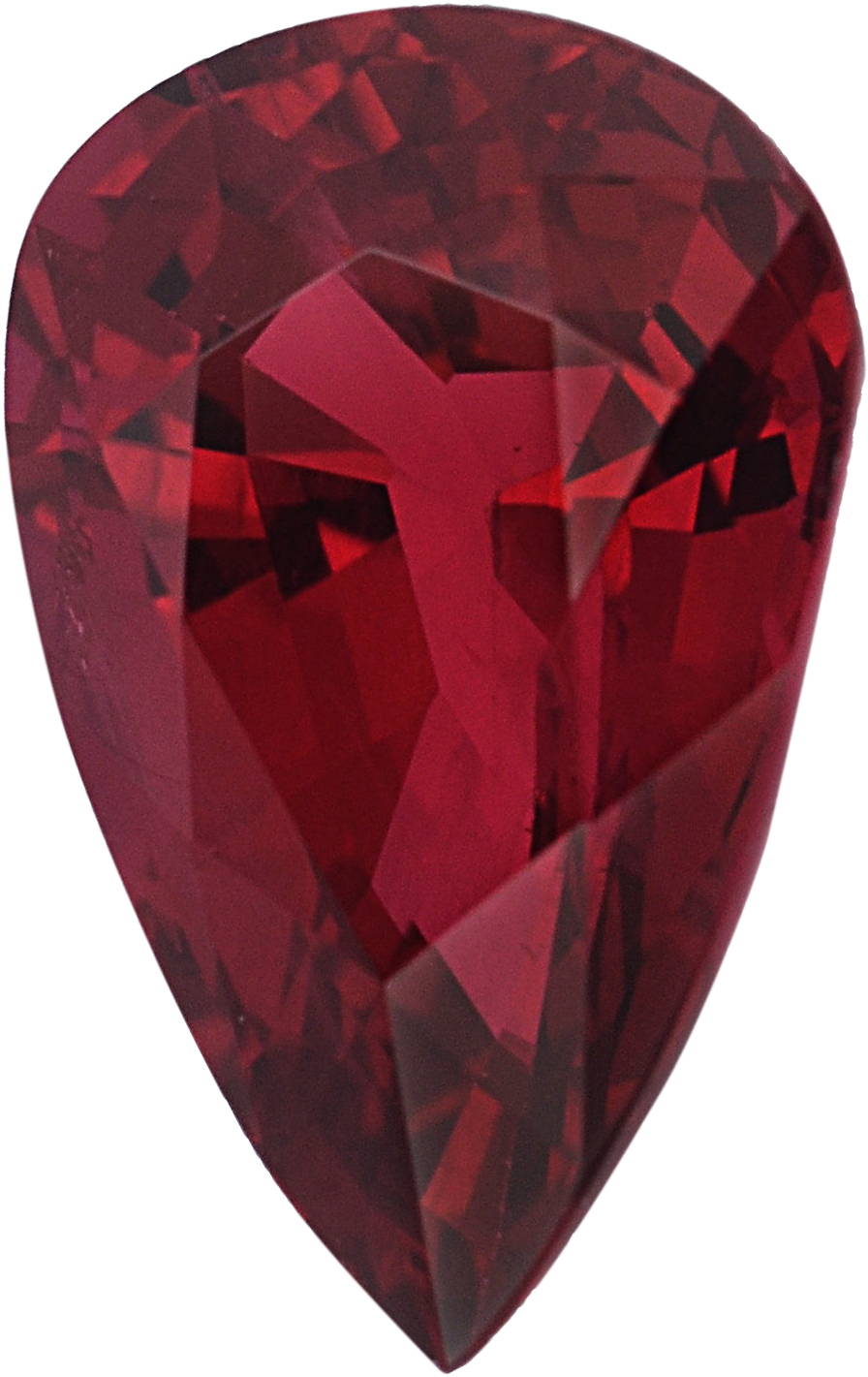 Unbelievable Pear Shape Loose Ruby Gem, Red Color, 7.22 x 4.82 mm, 0.91 carats