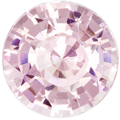 Unheated 1.7 carats Pink Sapphire Loose Gemstone in Round Cut, Pastel Pink, 7.3 x 7.23 x 4.36 mm